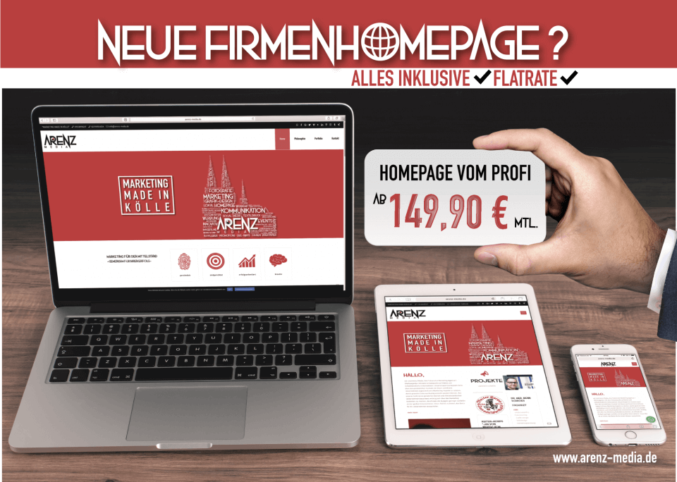 Arenz Media Homepage Flatrate